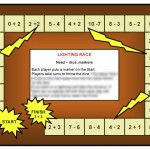 Lighting race math board game